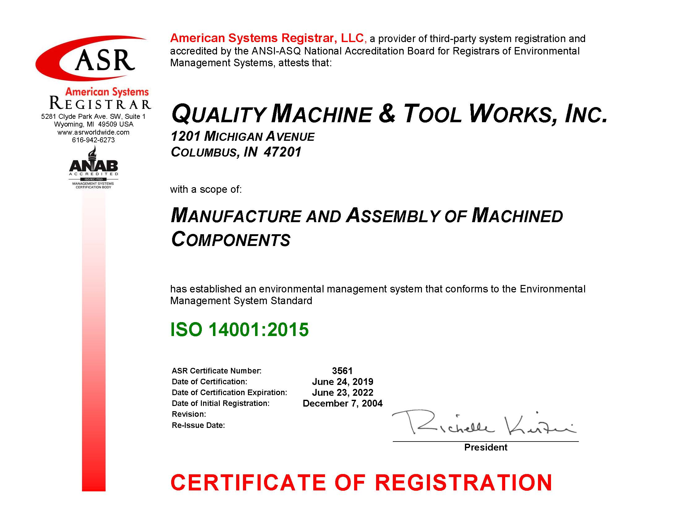 ISO-14001-2015 Certified