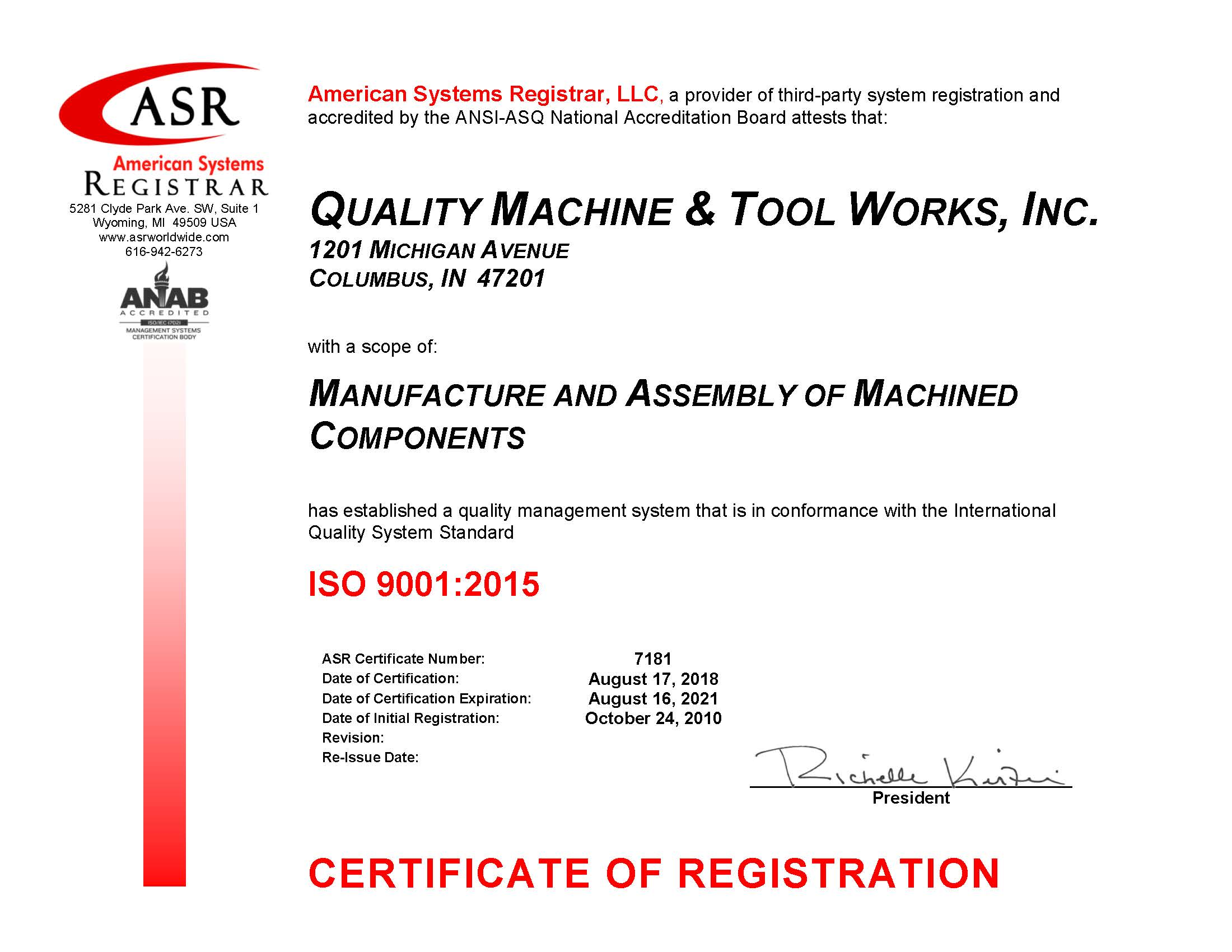 ISO-9001-2015 Certified