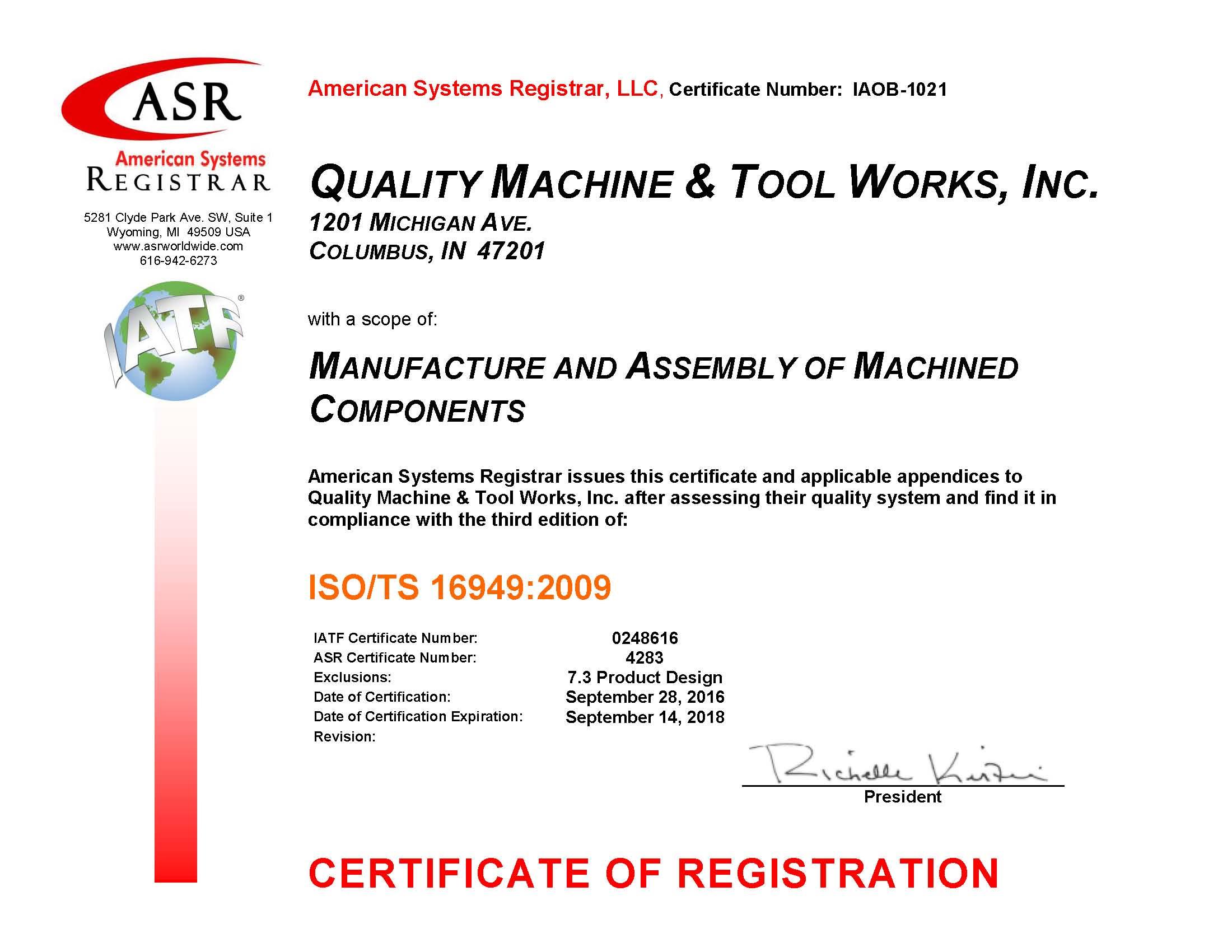 TS16949 Certified